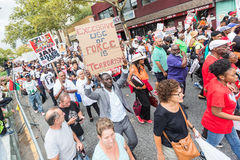 NEW YORK, USA - AUGUST 23, 2014: Thousands march in Staten Islan Stock Photography