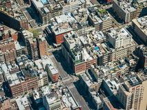 Aerial view at Downtown royalty free stock photo