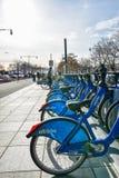 New York, USA. Citi Bike rental service on the Hudson River Greenway. Royalty Free Stock Photography