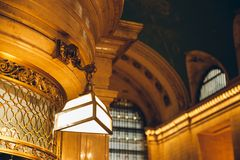 NEW YORK, USA - Dec 15, 2017: Interior of Grand Central Terminal royalty free stock photo