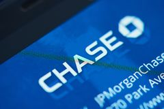 Chase bank moblie app menu Royalty Free Stock Photos