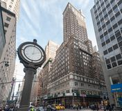 Clock on Fifth Avenue royalty free stock photography