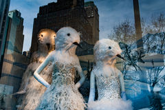 NEW YORK, USA - 11. Dezember 2011 - schönes Schaufenster für Weihnachten Lizenzfreie Stockfotografie