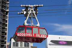 New York, USA - The famous Roosevelt Island cable tram. New York, USA-October 9, 2014: The famous Roosevelt Island cable tram car that connects Roosevelt Island Stock Photography
