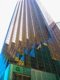 New York USA - Februari 13, 2013: Trumfvärldstornet: Trumfvärldstorn Royaltyfri Fotografi