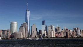 New York, USA - Freedom Tower in Lower Manhattan stock footage