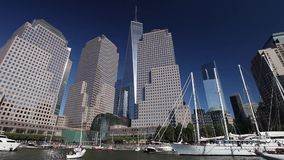 New York, USA - Freedom Tower in Lower Manhattan stock video footage