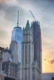 NEW YORK - USA - 13 gamla JUNI 2015 och nybyggen i manhattan Arkivfoto