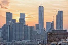 NEW YORK - USA - 13 gamla JUNI 2015 och nybyggen i manhattan Royaltyfria Foton