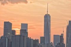 NEW YORK - USA - 13 gamla JUNI 2015 och nybyggen i manhattan Arkivbilder