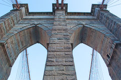 New York, Usa: an iconic view of Brooklyn Bridge on September 16, 2014 Stock Photography