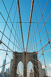New York, Usa: an iconic view of Brooklyn Bridge on September 16, 2014 Royalty Free Stock Photos