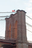 New York, Usa: an iconic view of Brooklyn Bridge on September 16, 2014 Royalty Free Stock Photo