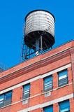 New York, Usa: iconic water tower on a rooftop on September 15, 2014 Stock Photography