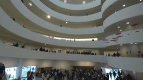 New York, USA Inside The Solomon R. Guggenheim Museum of art. stock video