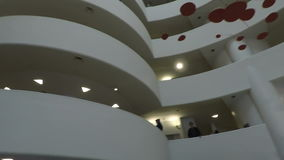 New York, USA Inside The Solomon R. Guggenheim Museum of art. stock footage