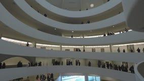 New York, USA Inside The Solomon R. Guggenheim Museum of art. stock video footage