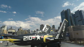 New York, USA Intrepid Sea, Air & Space American History Museum. stock video footage