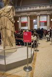 New York USA - 5 Januari, 2019 Den storstads- konstmuseet i New York arkivfoton