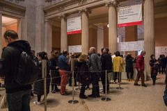 New York USA - 5 Januari, 2019 Den storstads- konstmuseet i New York royaltyfri bild