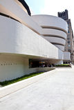 Facade of the Guggenheim Museum in New York City Royalty Free Stock Photography