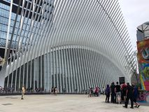 New York, USA - July 19, 2018. A view of the Oculus, a transportation hub in Lower Manhattan, New York Stock Photo