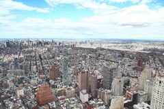 NEW YORK,USA- JUNE 18,2018:Aerial view of new york city from one world trade building. NEW YORK,USA- JUNE 18,2018:Aerial view of new york city from one world royalty free stock photos