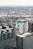 NEW YORK,USA- JUNE 18,2018:Aerial view of new york city from one world trade building. NEW YORK,USA- JUNE 18,2018:Aerial view of new york city from one world royalty free stock photo