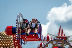 New York, USA - June 22, 2019:  Attraction in the Luna Park amusement park at Coney Island in New York City - image stock photo