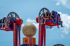 New York, USA - June 22, 2019:  Attraction in the Luna Park amusement park at Coney Island in New York City - image stock photos