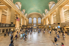New York, USA - June 19, 2016: Bustling grand central terminal in New York City Stock Image