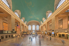 NEW YORK - USA - 11 JUNE 2015 Grand Central station is full of people Royalty Free Stock Images