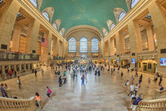 NEW YORK - USA - 11 JUNE 2015 Grand Central station is full of people Royalty Free Stock Photo