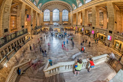 NEW YORK - USA - 11 JUNE 2015 Grand Central station is full of people Stock Images
