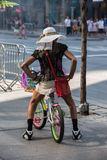 NEW YORK, USA - JUNE 15, 2015 - Homeless in town street Royalty Free Stock Photos
