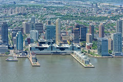 NEW YORK - USA - 13 JUNE 2015 New Jersey manhattan aerial view from freedom tower Royalty Free Stock Photos