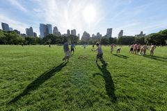 NEW YORK - USA - 14 JUNE 2015 people in central park on sunny sunday Royalty Free Stock Images