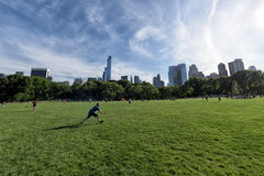 NEW YORK - USA - 14 JUNE 2015 people in central park on sunny sunday Stock Photos