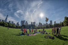 NEW YORK - USA - 14 JUNE 2015 people in central park on sunny sunday Stock Image