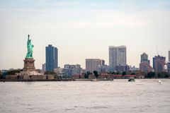 New York, USA - June 7, 2019: Statue of Liberty, Liberty Island, with Manhattan in the background - Image. New York, USA - June 7, 2019: Statue of Liberty stock photos