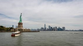 New York, USA - June 7, 2019: Statue of Liberty, Liberty Island, with Manhattan in the background - Image. New York, USA - June 7, 2019: Statue of Liberty royalty free stock images