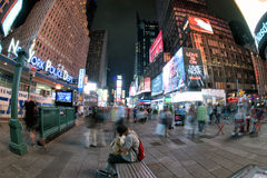 NEW YORK - USA 16 JUNE 2015 times square moving people Royalty Free Stock Image