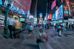 NEW YORK - USA 16 JUNE 2015 times square moving people Stock Images