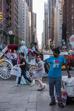 NEW YORK - USA 16 JUNE 2015 town moving people Stock Photography