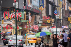 NEW YORK - USA 16 JUNE 2015 town moving people Stock Image