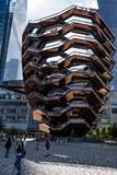 New York, USA - June 21, 2019:  The Vessel at Hudson Yards located on Manhattans West side - Image. New York, USA - June 21, 2019:  The Vessel at Hudson Yards stock photos