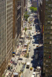 NEW YORK, USA - JUNE 14, 2016: View down a busy street Stock Image