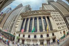 NEW YORK - USA - 11 JUNE 2015 wall street crowded of people Stock Images