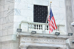 NEW YORK - USA - 13 JUNE 2015 wall street stock exchange sign Royalty Free Stock Photos
