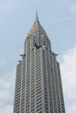 NEW YORK - USA - 11. Juni 2015 Chrysler, der New York am bewölkten Tag errichtet Stockfotos